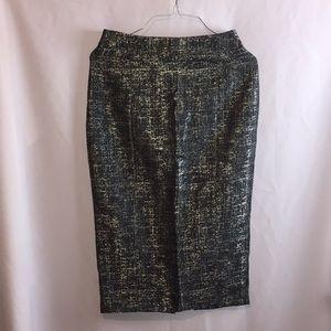 Grey/silver pencil skirt